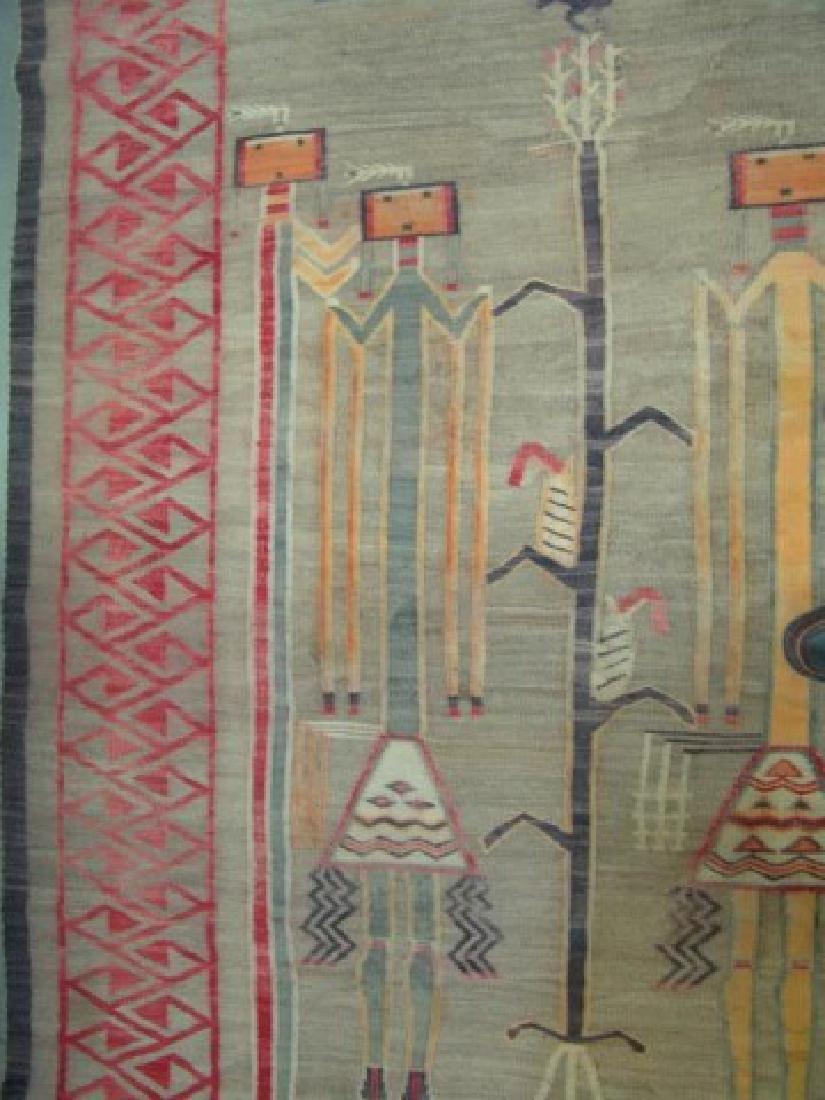 Huge Old Navajo Rug/Weaving - 6