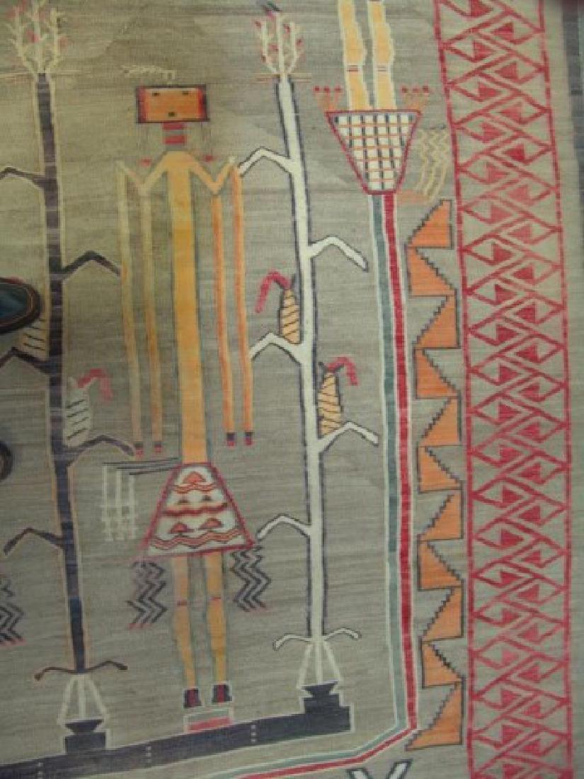 Huge Old Navajo Rug/Weaving - 7