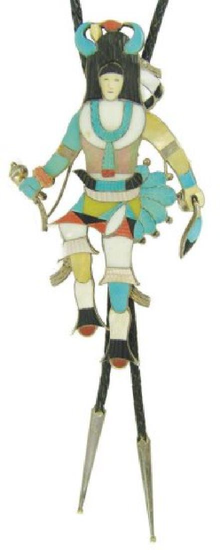 Zuni Inlay Bolo Tie - Eddie Beyuka (1920-2002)