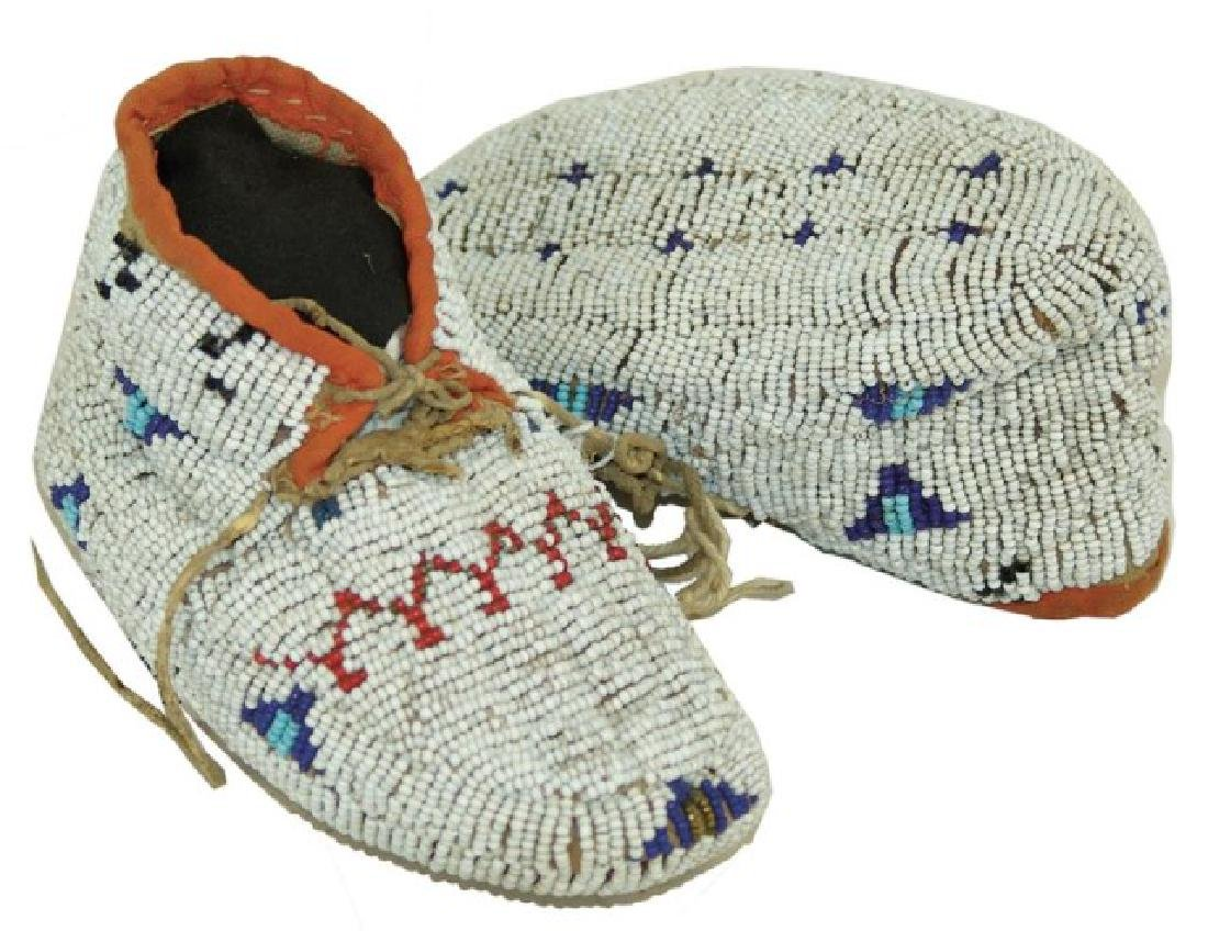 Cheyenne Fully Beaded Baby Moccasins