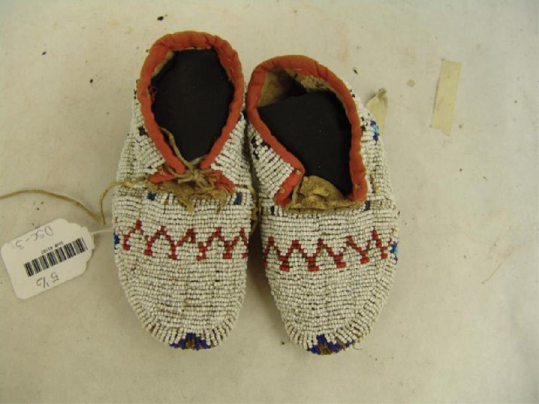 Cheyenne Fully Beaded Baby Moccasins - 2
