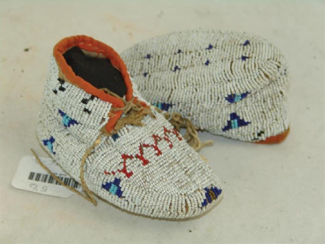 Cheyenne Fully Beaded Baby Moccasins - 3