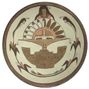 Hopi Pottery Plate Lawrence Namoki
