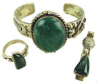 Navajo Bracelet Ring and Pendant Roger Nelson