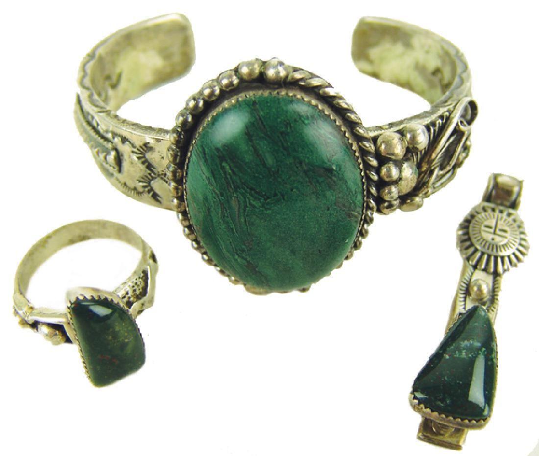 Navajo Bracelet, Ring, and Pendant - Roger Nelson