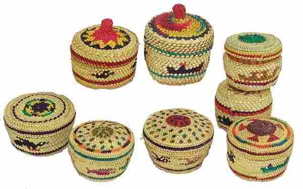8 Nootka/Makah Treasure Baskets