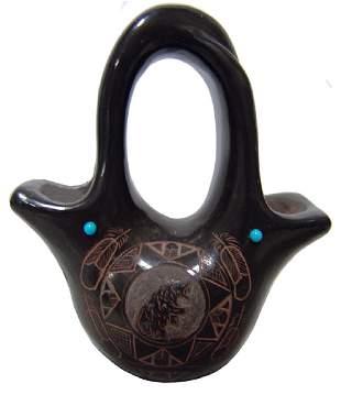 Pueblo Potter Jar Red Star