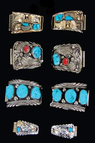 4 Pair of Navajo Watch Tips