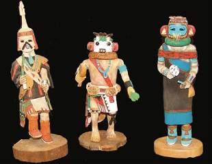 3 Hopi Kachina Carvings