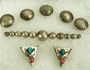 Group of Silver Indian Jewelry