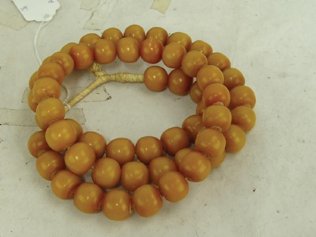 Copal Amber Trade Beads - 3