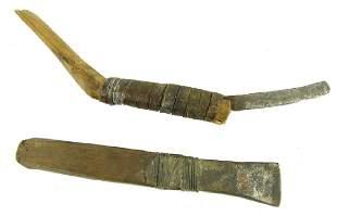2 Antique Eskimo Tools
