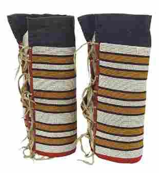 Plains Cree Beaded Leggings