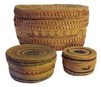 3 Nootka/Makah Baskets