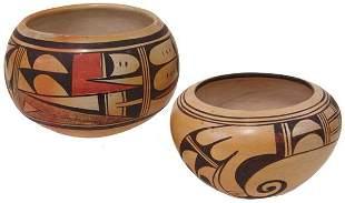 2 Hopi Pottery Bowls