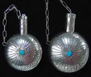 2 Navajo Silver Canteens