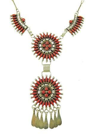 Zuni Coral Necklace