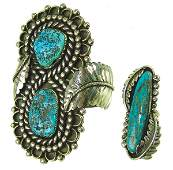 "Navajo Bracelet & Ring - ""BT"""
