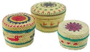 3 Nootka/Makah Treasure Baskets