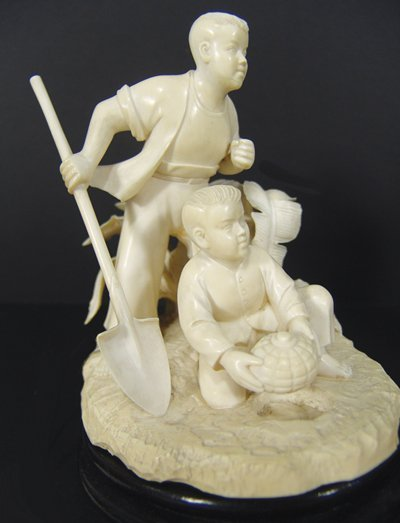 1379: Chinese Carved Ivory Scene