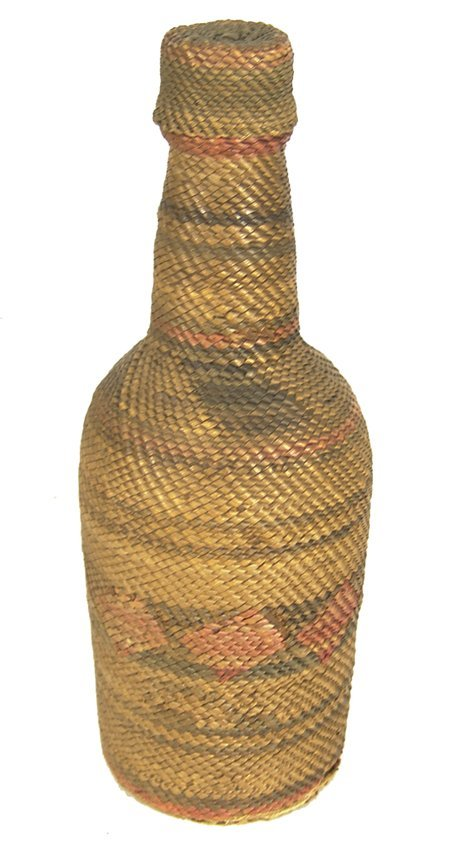 508: Tlingit Basketry Covered Bottle