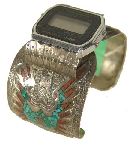 518: Navajo Chip Inlay Watch Bracelet
