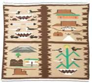 801 Navajo Pictorial Rug