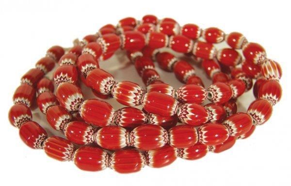 1016: 2 Chevron Tradebead Necklaces
