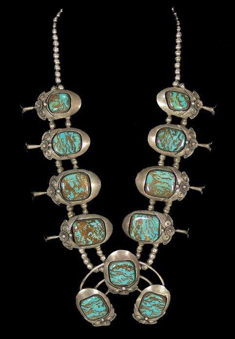 1017: Navajo Squash Blossom Necklace - Gomez