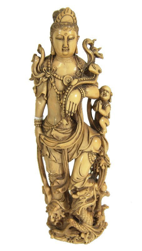 1022: Antique Chinese Ivory Figure
