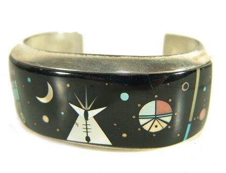 1024: Navajo Inlay Bracelet - Ervin Tsosie