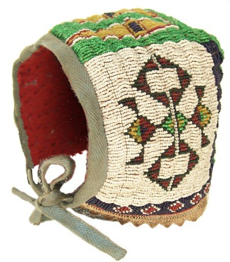 4: Sioux Beaded Baby Bonnet
