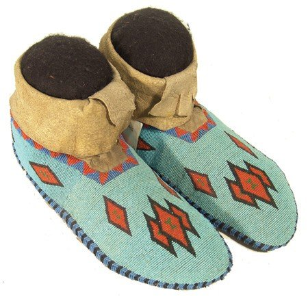 6: Gros Ventre Beaded Moccasins