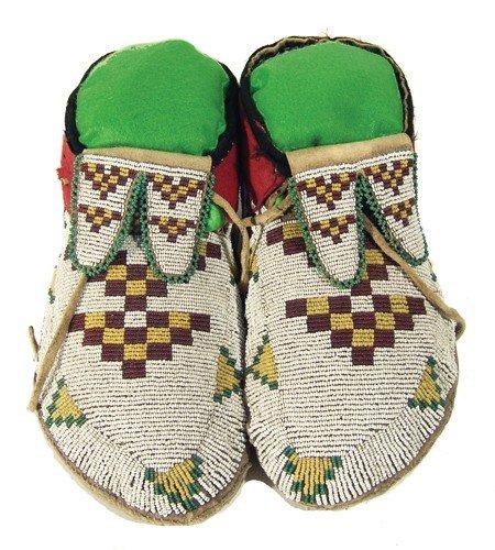 8: Assiniboine/Cree Beaded Moccasins