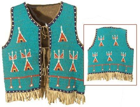 23: Sioux Fully Beaded Boy's Vest
