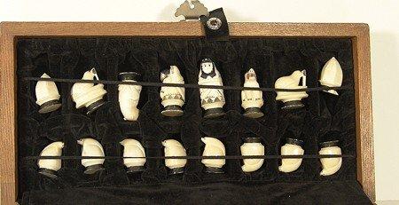 136: Eskimo Ivory Chess Set