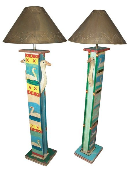 5: 2 Mexican Floor Lamps