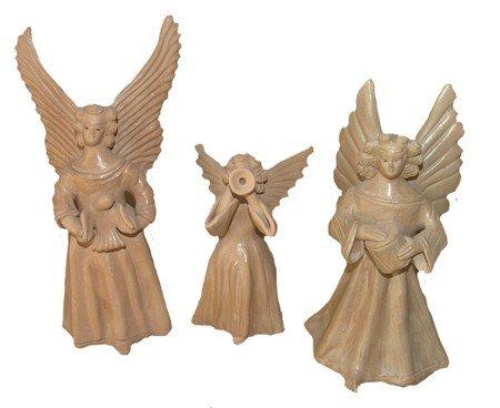 10: 3 Guatemalan Clay Figures