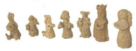 12: 7 Oaxaca Clay Figures - Teodora Blanco