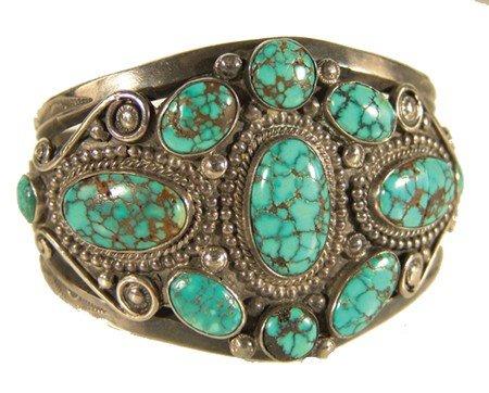 401: Navajo Turquoise & Silver Bracelet