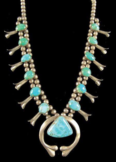 405: Navajo Squash Blossom Necklace