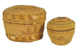 471: 2 Nuu-Chah-Nulth (Makah) Lidded Baskets
