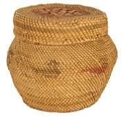 473: Nuu-Cha-Nulth (Makah) Lidded Basket