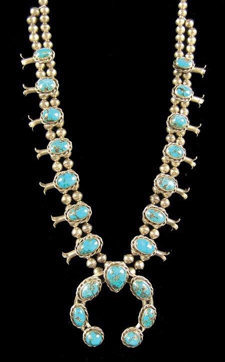 606: Navajo Squash Blossom Necklace