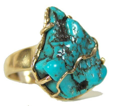 17: Gold and Turquoise Ring