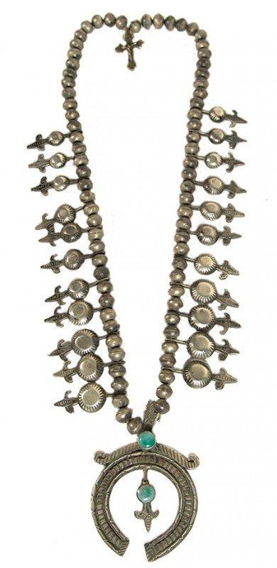 1: Navajo Squash Blossom Necklace