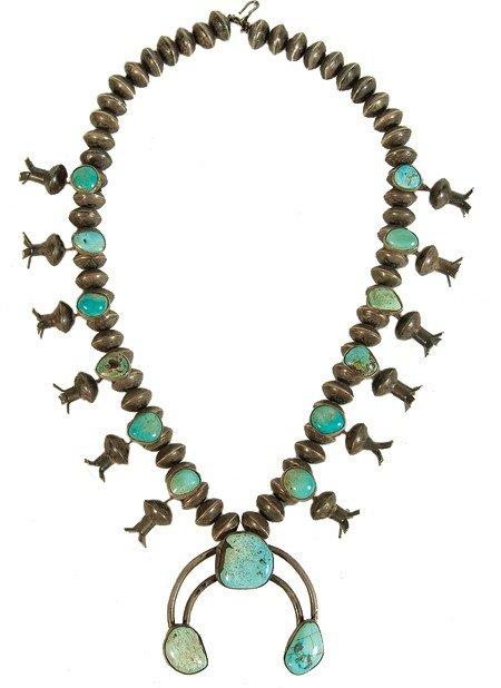 4: Navajo Dime Squash Blossom Necklace