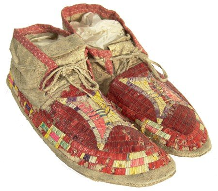 24: Sioux Quilled Moccasins