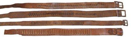 422: 4 Antique Ammo Belts