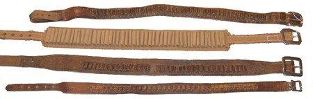422A: 4 Antique Ammo Belts